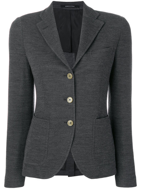 TAGLIATORE blazer women wool grey jacket