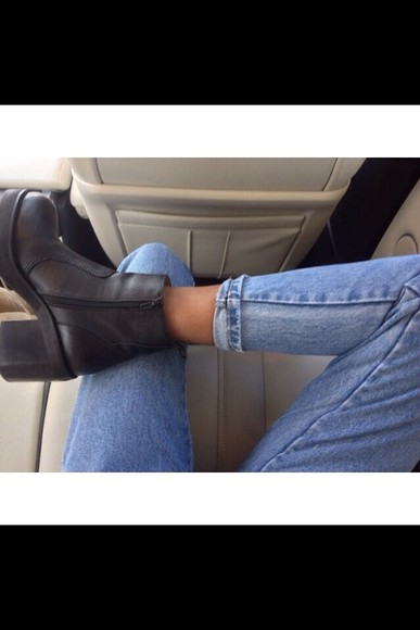 shoes boots pretty black ankle boots woman