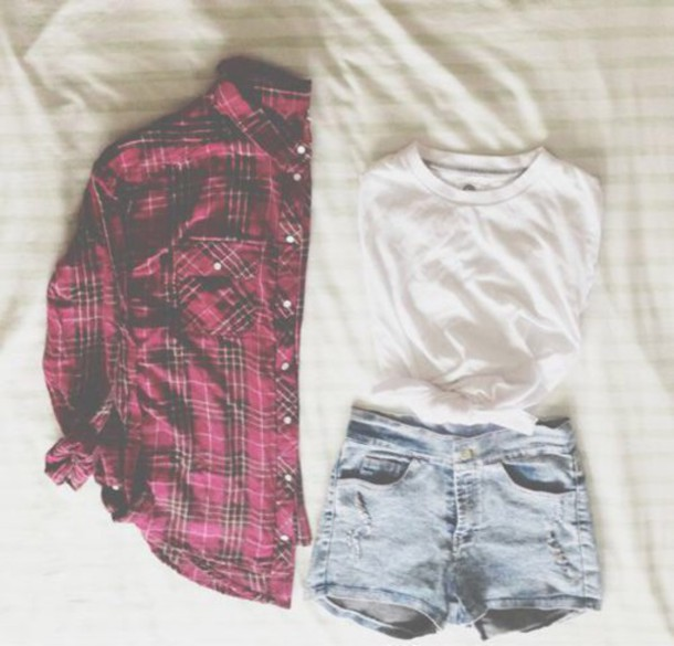 jacket flannel outfit blouse t-shirt coat shorts