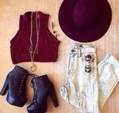 jeans,crop tops,heels