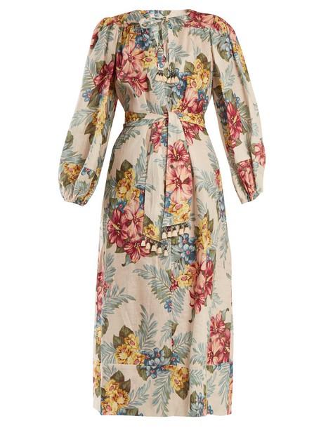Zimmermann shirtdress floral print blue dress