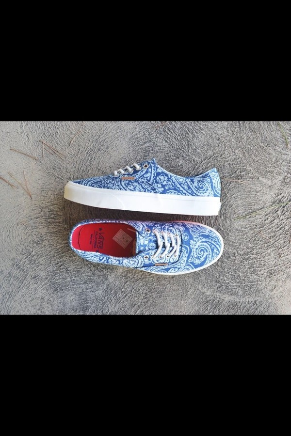 shoes vans printed vans blue vans