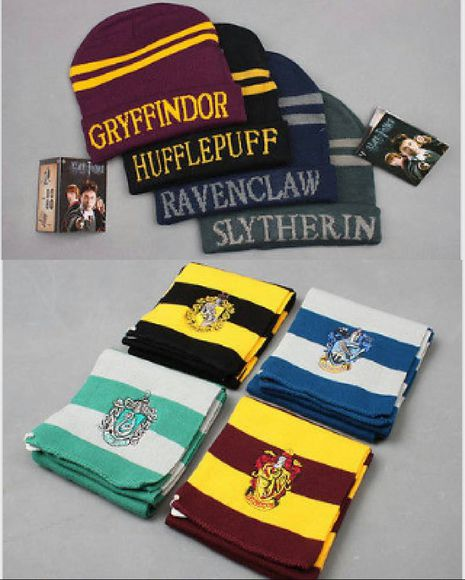 harry potter slytherin scarf hufflepuff ravenclaw best seller gryffindor hats hat film