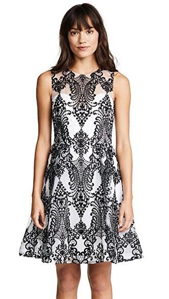dress cocktail dress embroidered black
