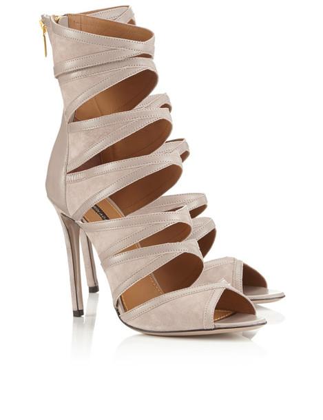 Erin Adamson heels suede taupe beige
