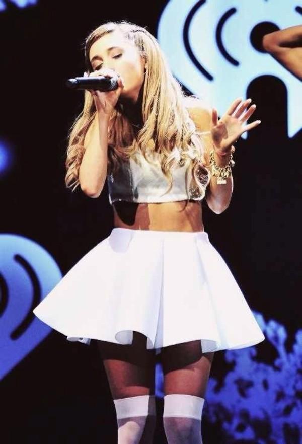 skirt, ariana grande, white skirt - Wheretoget