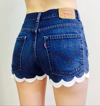 scalloped shorts diy