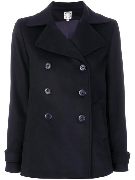 Ines de la Fressange coat women blue wool