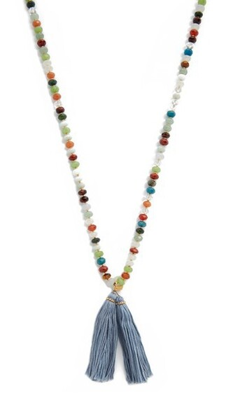tassel necklace jewels