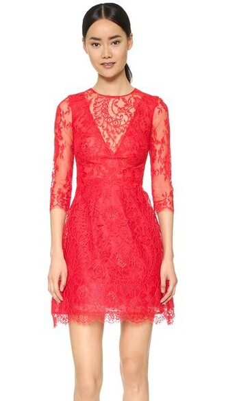 skirt lace strawberry red