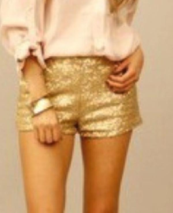 shorts Sequin shorts sequins glitter glitter shorts gold sequins gold shorts