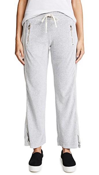 SUNDRY pants track pants zip grey heather grey