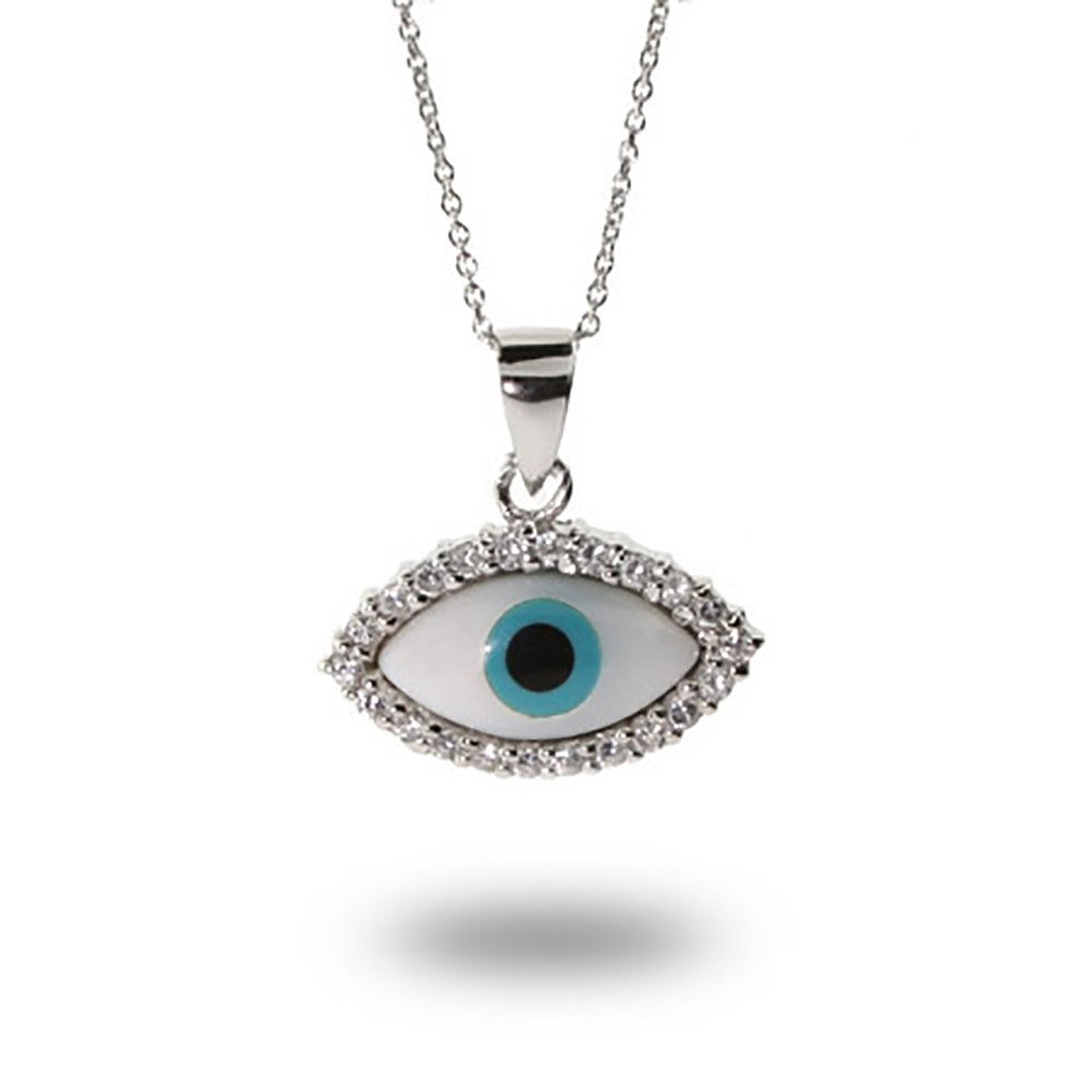 Amazon.com: Sterling Silver Evil Eye Protection Pendant: Necklaces: Jewelry
