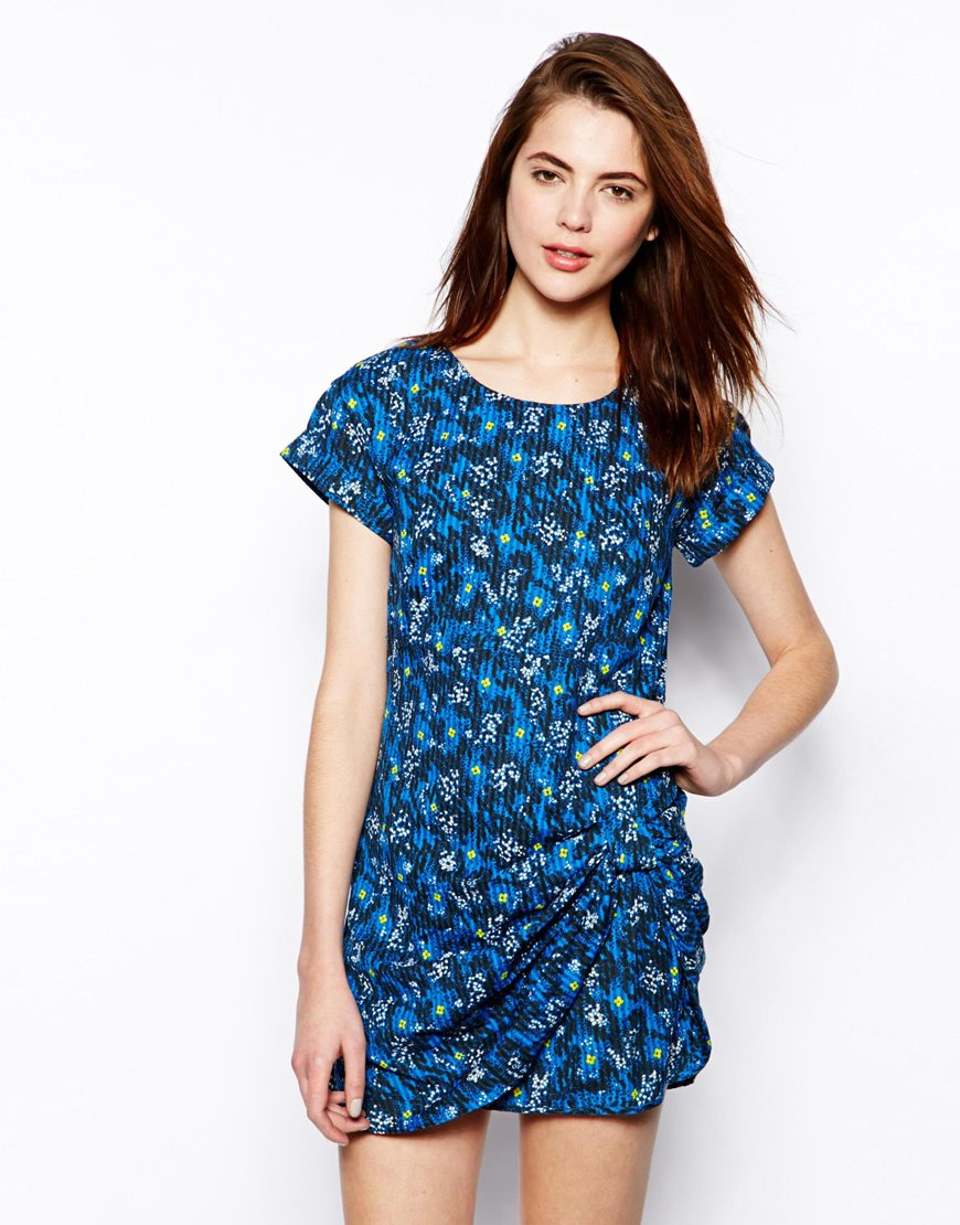 French Connection Electric Meadow Knot Front Dress at asos.com