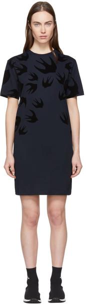 McQ Alexander McQueen dress shirt dress t-shirt dress navy