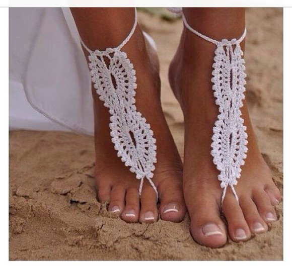 sandals jewels crochet footwear