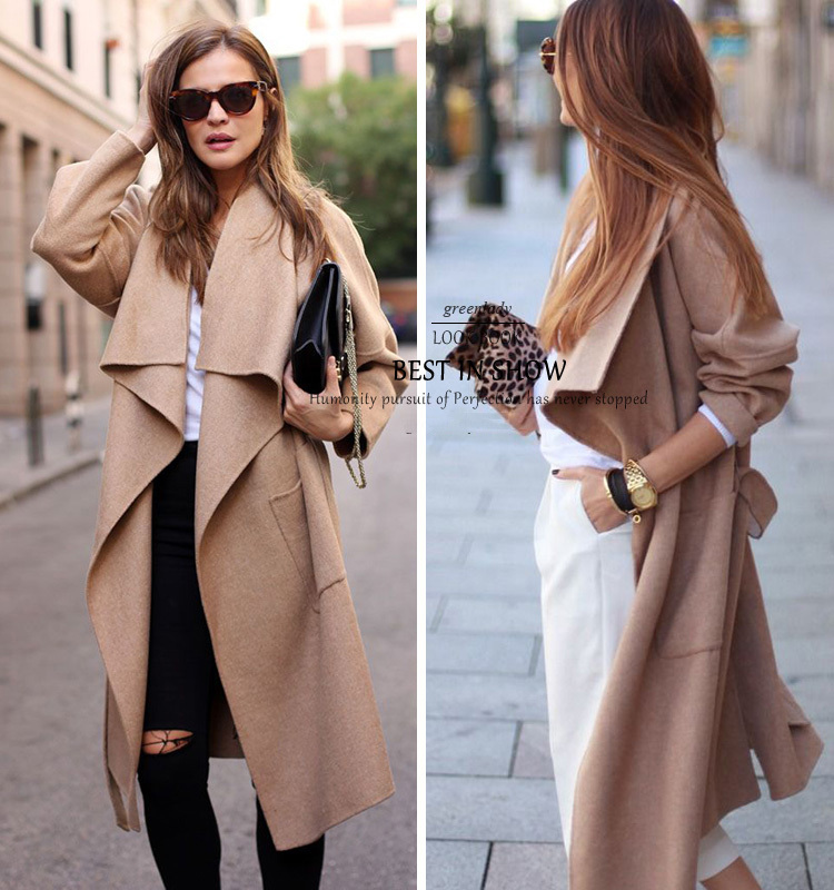 Aliexpress.com : Buy 2015 Fashion Women ZA Genuine Beige Loose ...