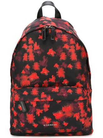 backpack print black bag