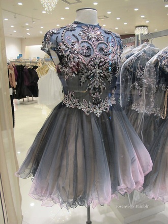 dress homecoming prom dress short prom dress grey dress pink dress diamonds blue black pink short dress prom shortblackdress short party dresses formal dress beaded dress