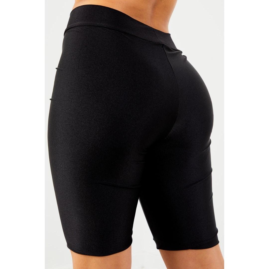 Sorella Black Glossy Biker Shorts