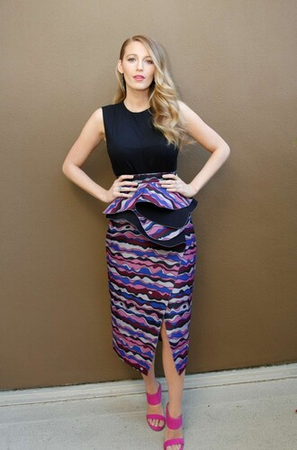 skirt dress midi skirt blake lively sandals top spring skirt