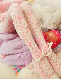 Harajuku lolita printing pantyhose · asian cute · online store powered by storenvy
