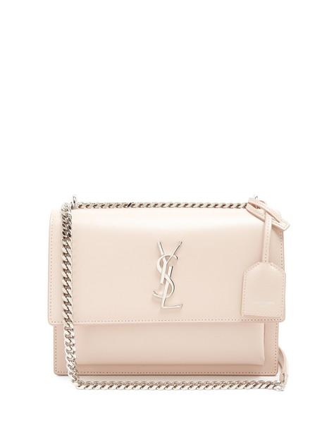 Saint Laurent cross bag leather light pink light pink