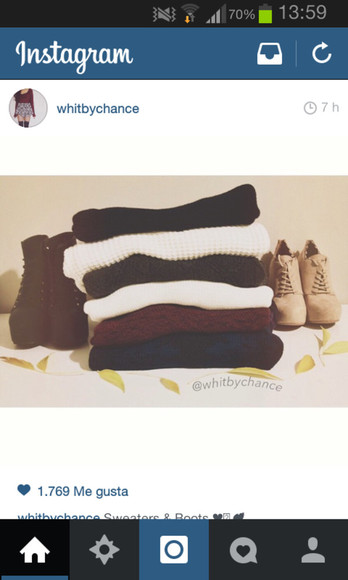 burgundy sweater white sweater boots burgundy clothes
