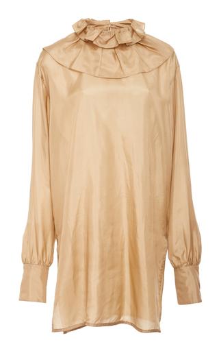 Light Habotai Ruffle Blouse by Victoria Beckham | Moda Operandi