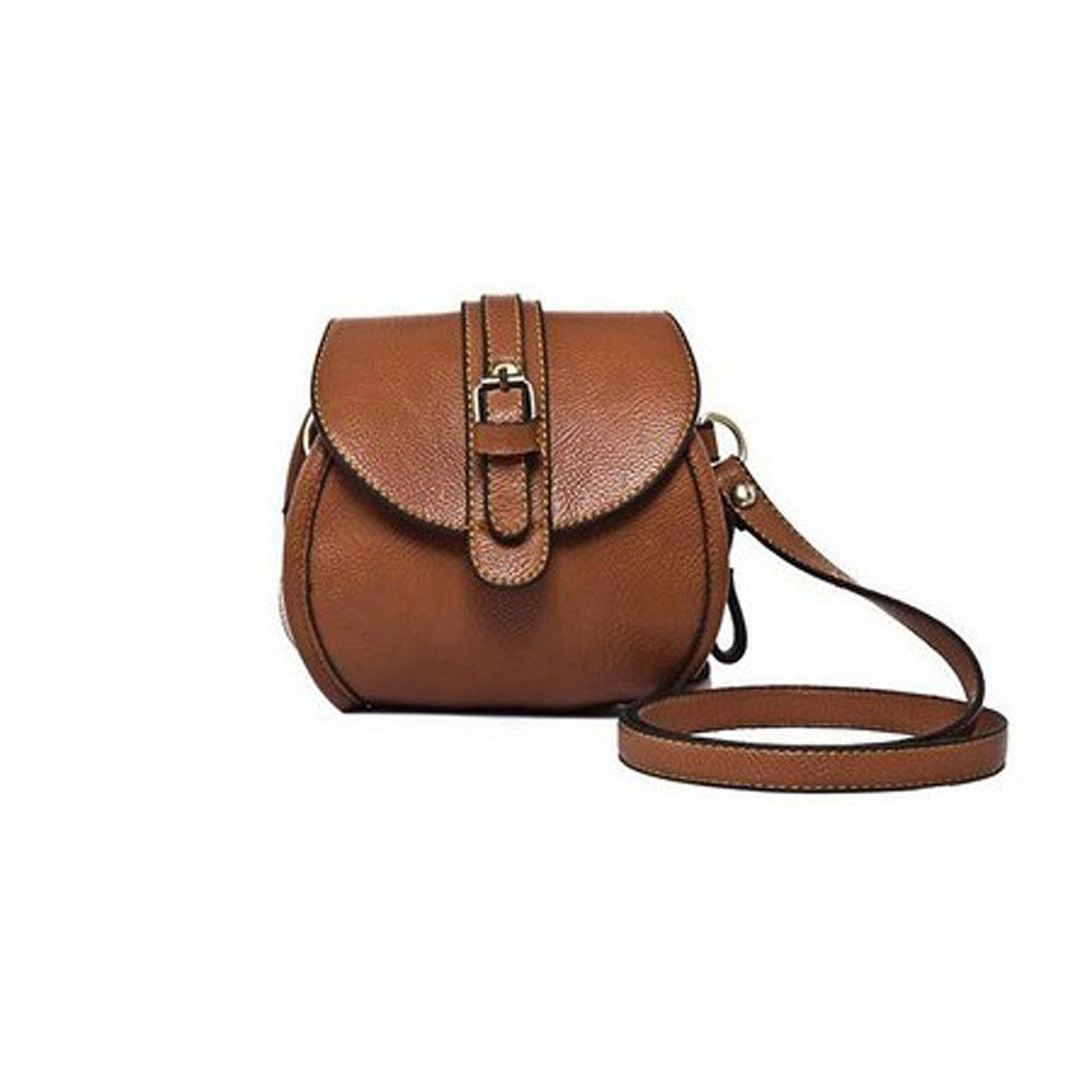 Donalworld Women Korean Style Vintage Mini Leather Shoulder Handbag Brown: Handbags: Amazon.com