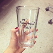 jewels,kitchen,pint glass,home accessory,boyfriend,glass,quote on it