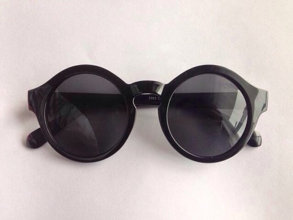 rounded sunglasses sunglasses black hot