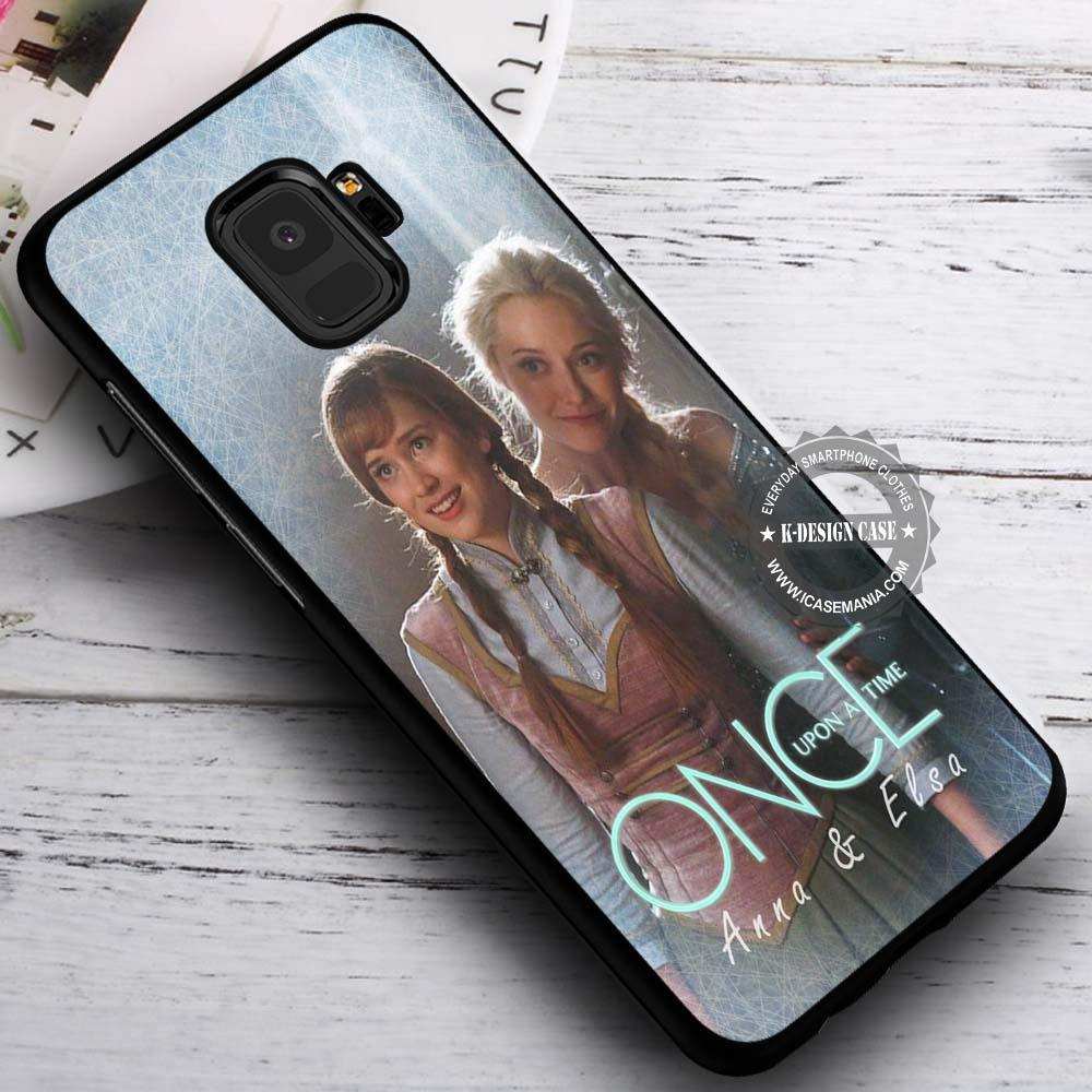 Anna and Elsa Once Upon A Time iPhone X 8 7 Plus 6s Cases Samsung Galaxy S9 S8 Plus S7 edge NOTE 8 Covers #SamsungS9 #iphoneX