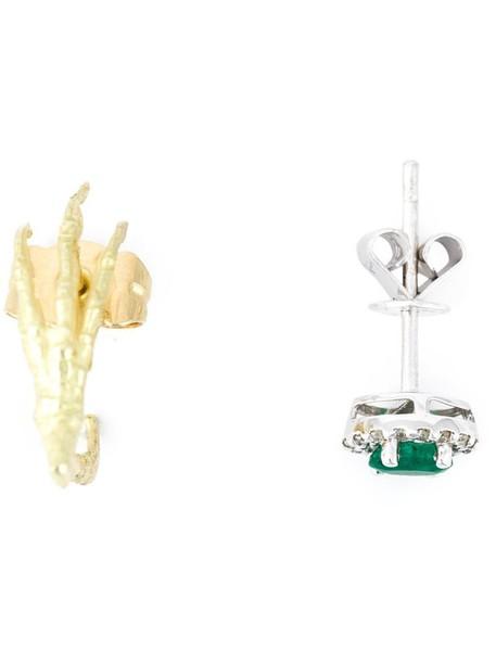 Wouters & Hendrix Gold women earrings gold green jewels