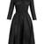 Dorothy square-neck taffeta dress