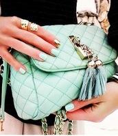 bag,crossbody bag,mint