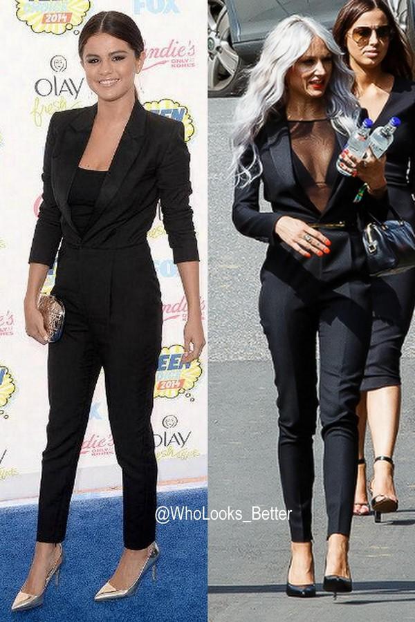 jumpsuit yves saint laurent ysl lou teasdale bag nail polish belt tailoring selena gomez black jeans black jumpsuit one piece