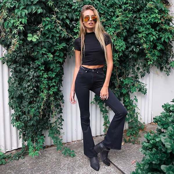 Jeans: cheap monday, peppermayo, flare, flare jeans, flared jeans ...