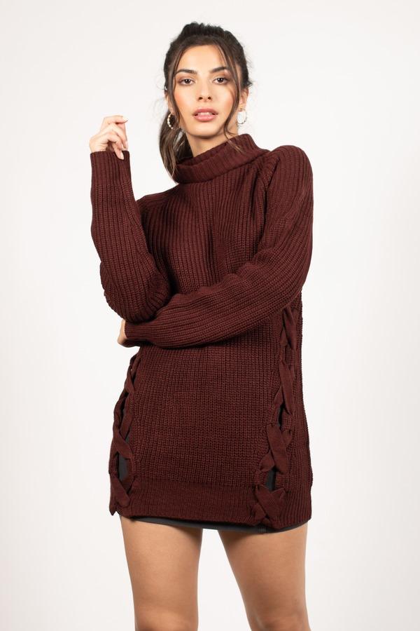 Need You Wine Turtleneck Sweater