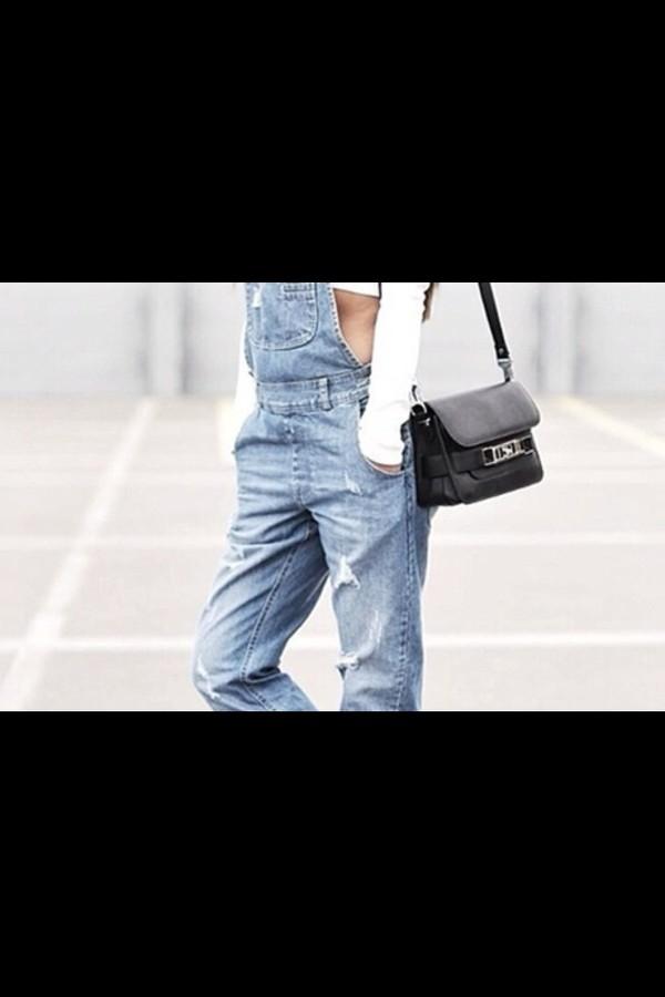 pants denim overalls denim dungarees denim overalls indie grunge love more jumpsuit