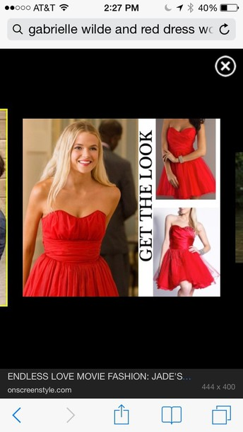 dress red dress red dress endless love jade gabriella wilde