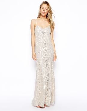 Needle & Thread | Needle & Thread Chalk Lace Maxi Dress at ASOS