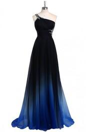 dress,prom dress,evening dress,long prom dress,ombre dress,blue prom dress