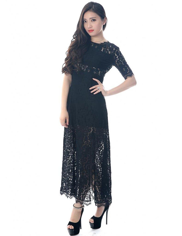Women's Lace Maxi Dress: Amazon Fashion