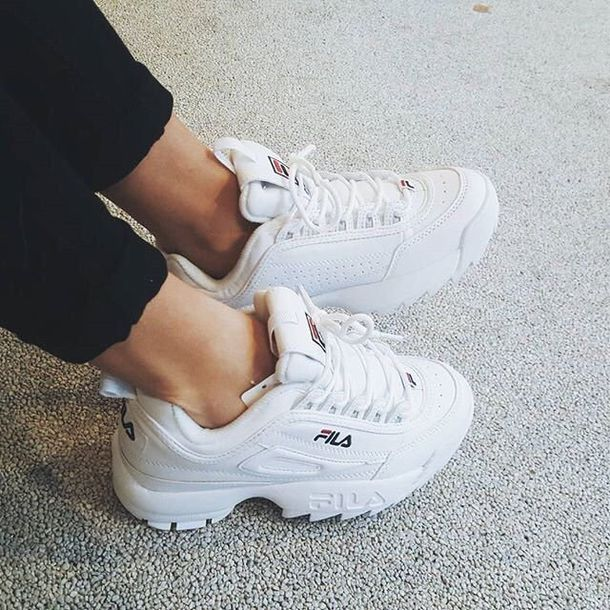 Shoes: og fila, white shoes, fila sneakers, fila