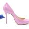 Light purple high heel pumps