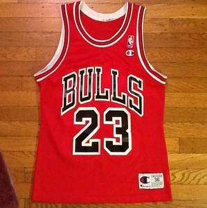 wghady Michael Jordan Chicago Bulls Vintage Jersey 23 NBA Champion Size