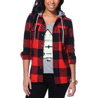 sweater red black flannel