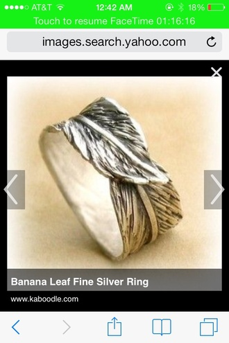 jewels ring leaf silver