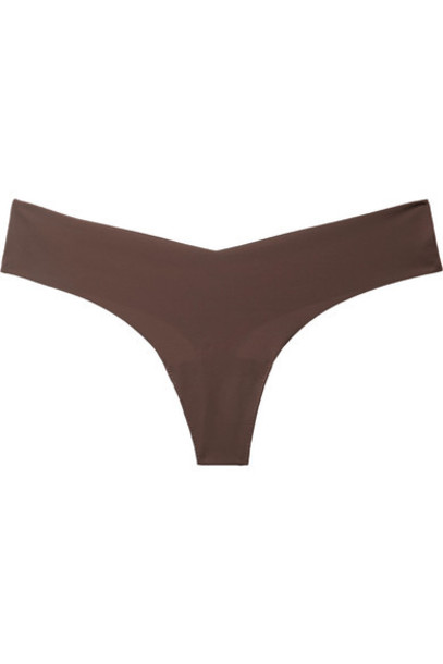 Commando - Stretch Thong - Chocolate